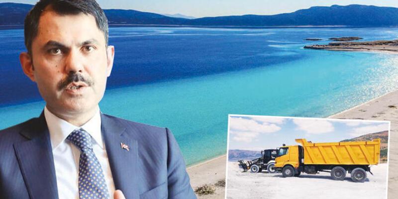 """Bakan Kurum'dan Salda Gölü açıklaması: """"Basmaya kıyamadığımız güzelliğe bunu yaptılar"""""""