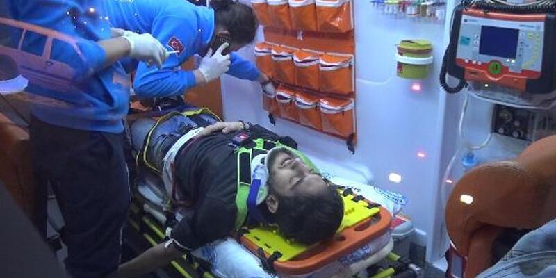 Silivri'de 50 metre yüksekten düşen genç yaralandı