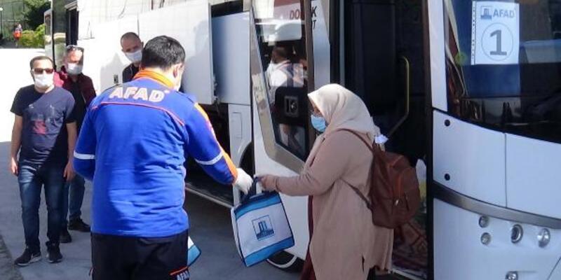 Karantina süresi dolan 44 kişi  memleketine gönderildi
