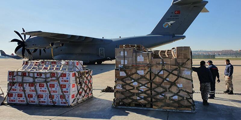 Türkiye'nin gönderdiği sağlık malzemeleri Somali'ye ulaştı