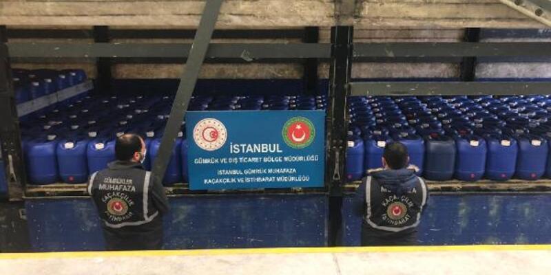 İstanbul ve Hatay'da düzenlenen operasyonda 85 ton sülfürik asit ele geçirildi