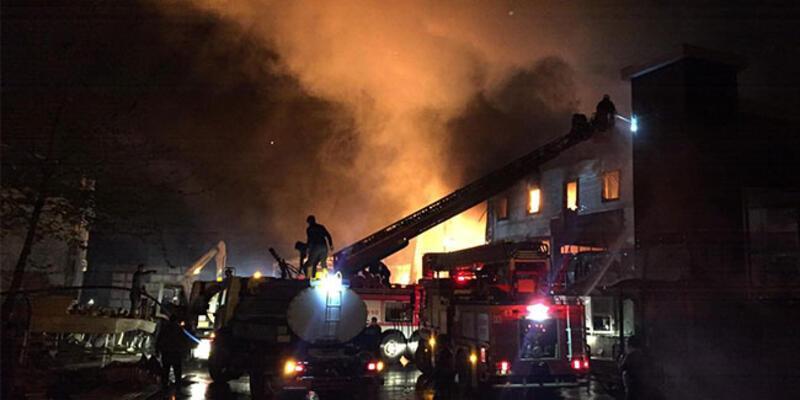 Trabzon'daki fabrika yangını kontrol altına alındı