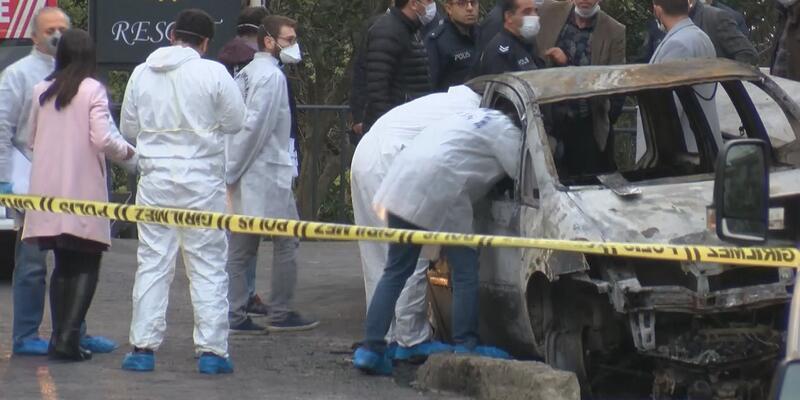 Kartal'da yanan otomobilden ceset çıktı