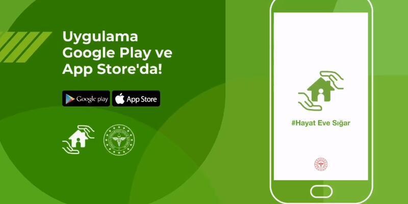 Hayat eve sığar Corona virüsü uygulaması Play Store App Store indir