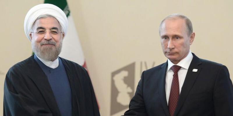 Ruhani ve Putin arasında Astana öncesi görüşme