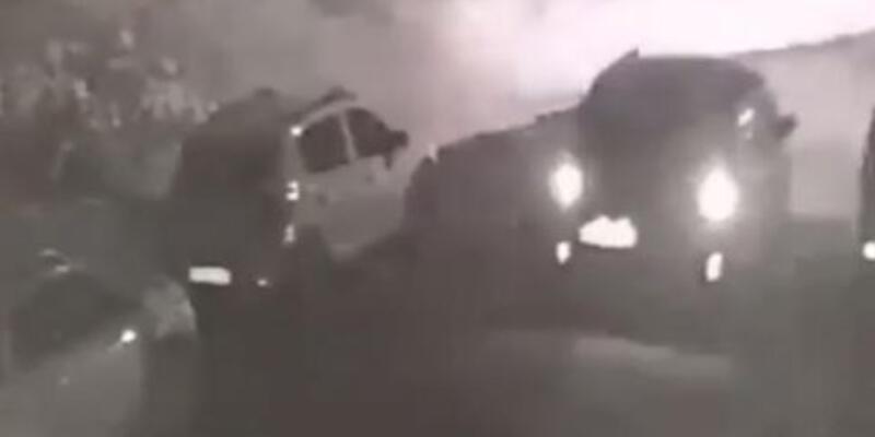 Sürücünün aracıyla üzerinden geçtiği köpek yaralandı