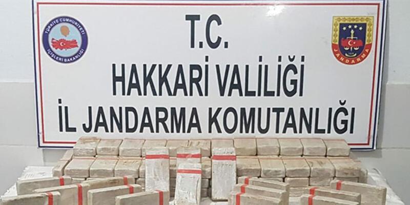 Hakkari'de 114 kilo 900 gram eroin ele geçirildi