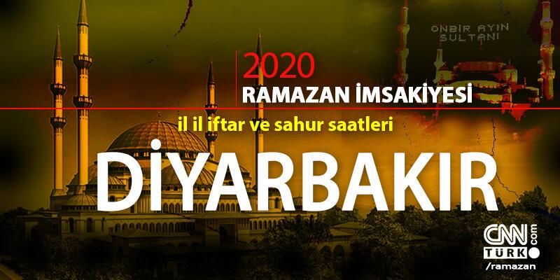 2020 Diyarbakır imsakiyesi: Diyarbakır sahur vakti saat kaçta, iftar saati ne zaman?