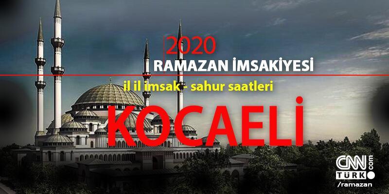 Kocaeli imsakiye 2020 Ramazan: 24 Nisan Kocaeli imsak saati