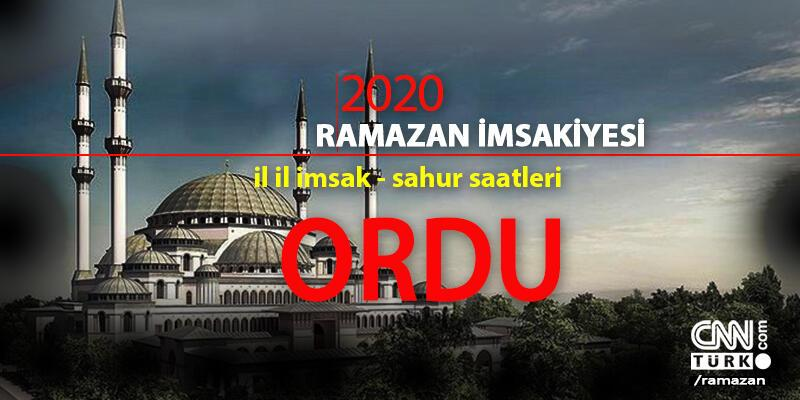 Ordu imsakiye: 2020 Ramazan - 24 Nisan Ordu imsak saati