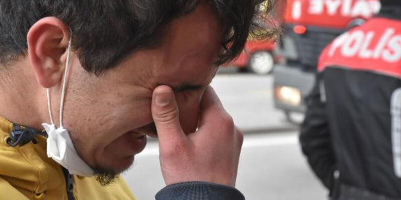 Yürek sızlatan görüntü! Gözyaşlarını tutamadı