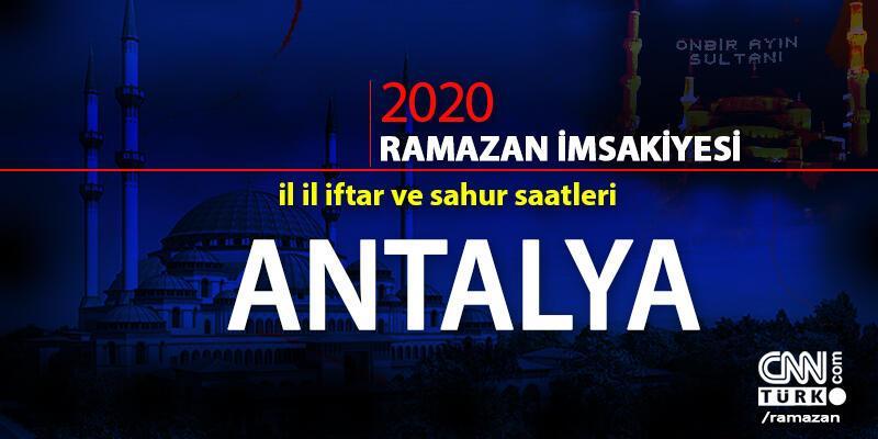 Antalya imsakiyesi 2020… Antalya iftar vakti ne zaman, akşam ezanı saat kaçta?