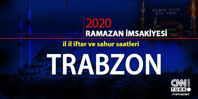 2020 Trabzon imsakiyesi: Trabzon iftar vakti saat kaçta? 24 Nisan 2020