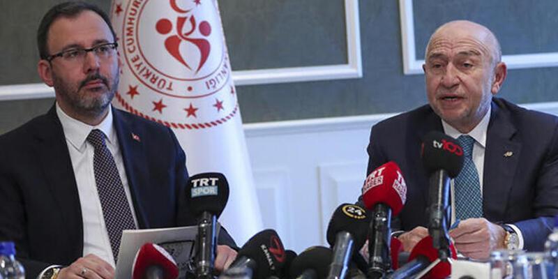 Bakan Kasapoğlu, TFF Başkanı ve kulüp başkanlarıyla görüştü