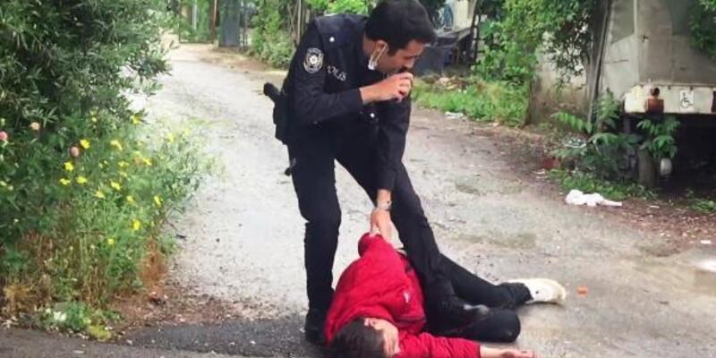 Çaldığı motosikletle kaçmaya çalışan genç, yakalandı