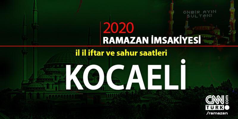 İftar saati | Kocaeli 2020 Ramazan imsakiyesi Kocaeli iftar ve imsak vakitleri