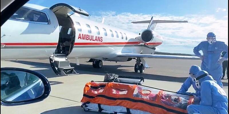 Türk hastanın ambulans uçakla Türkiye'ye getirilmesi İsveç basınında büyük ses getirdi