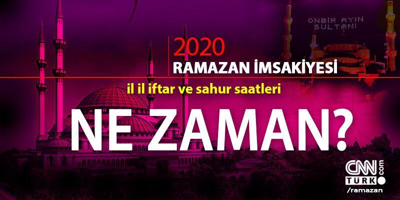 İftar saatleri Ramazan 2020 imsakiye: Bugün iftar vakti ne zaman, saat kaçta?