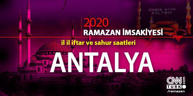Antalya imsakiyesi 2020: Antalya iftar saati… 27 Nisan iftar vakti saat kaçta?