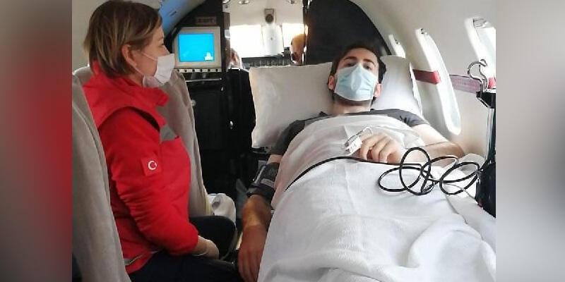 Rusya'daki Türk vatandaşı ambulans uçağa bindirildi