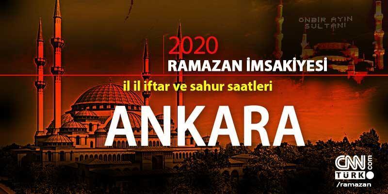 Ankara imsakiyesi 2020: Ankara iftar vakti saati ne zaman?