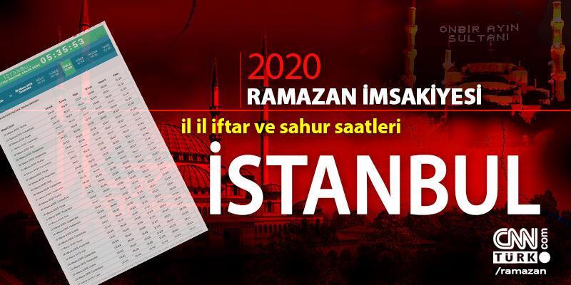 İmsakiye İstanbul 2020… İstanbul iftar vakti saat kaçta, sahur saati ne zaman?