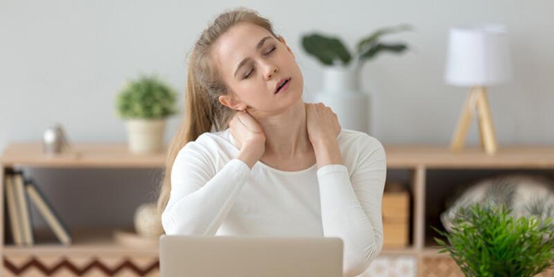 Hareketsizlik boyun ve sırt ağrılarına sebep oluyor