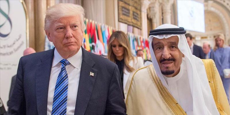 Trump ile Suudi Arabistan Kralı Selman ile görüştü