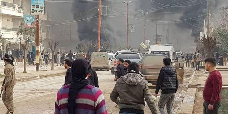 El Bab'da kanlı saldırı! En az 11 sivil yaralandı