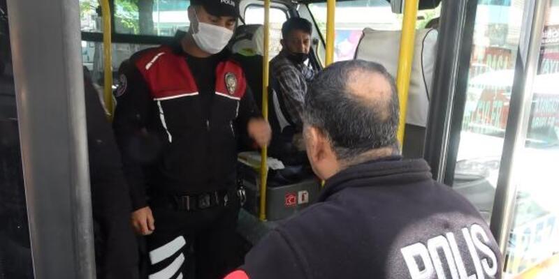 Minibüs sürücüleri polis denetiminden kaçamadı