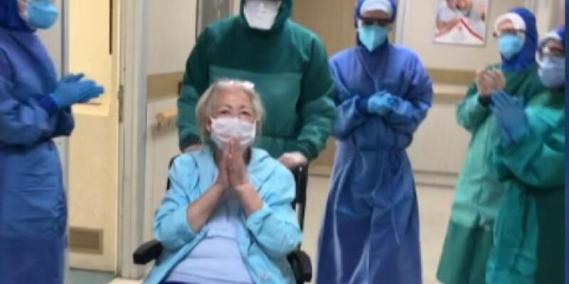 Eşini de koronadan kaybeden 70 yaşındaki kadın taburcu edildi