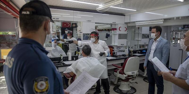 Ülke genelinde iş yerlerine Kovid-19 denetimi