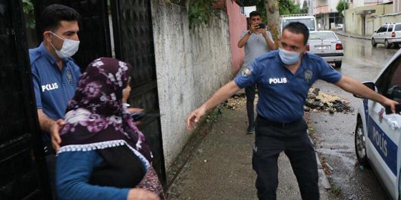 Evini su basan yaşlı kadının yardımına polis ekipleri yetişti