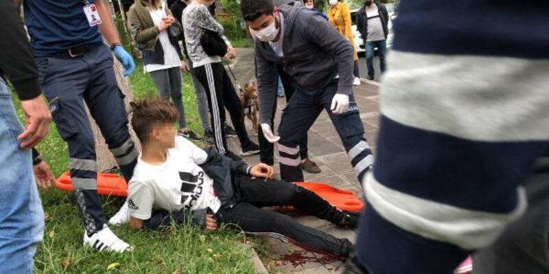 Gençlerin kavgasında kan aktı