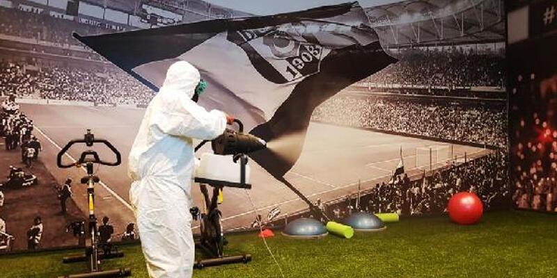 Vodafone Park dezenfekte edildi