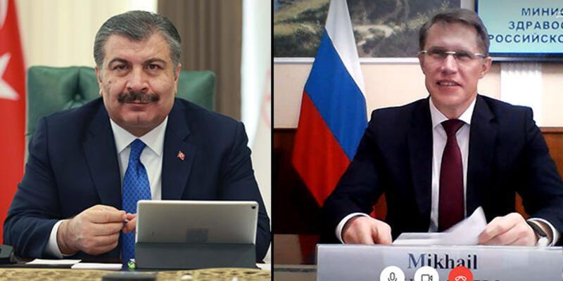 Sağlık Bakanı Koca, Rus mevkidaşıyla görüştü