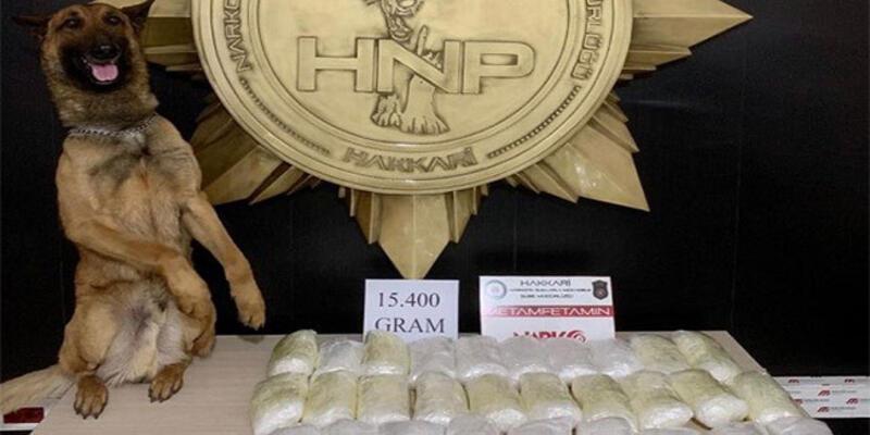 Hakkari'de 15 kilo 400 gram sentetik uyuşturucu ele geçirildi