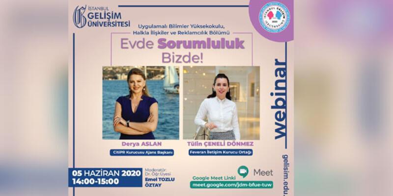 İstanbul Gelişim Üniversitesi öğrencilerinden webinar ''sosyal izolasyon döneminde evde kadının rolü ve iş yaşamına etkisi''