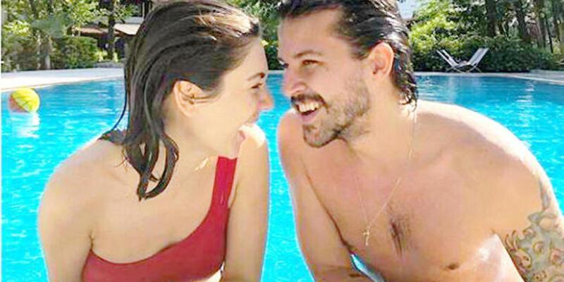 Fulya Zenginer -Kuntay Tarık Evren çiftinin havuz keyfi