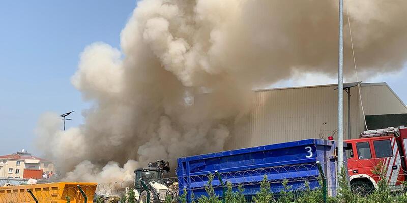 Son dakika haberleri: Maltepe'deki atık tesisinde yangın