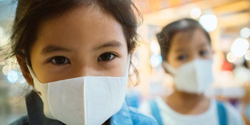 Çocuklar için maske uyarısı