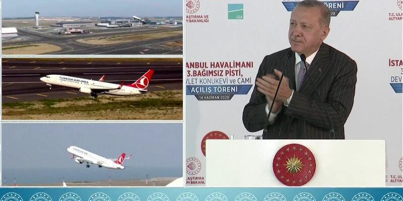 İstanbul Havalimanı'ndan ilk defa aynı anda 3 uçak havalandı Uçuş kodlarında dikkat çeken detay...
