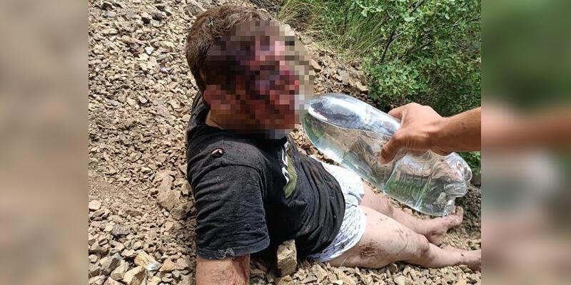 Kayıp genç, 2 gün sonra dağda yaralı bulundu