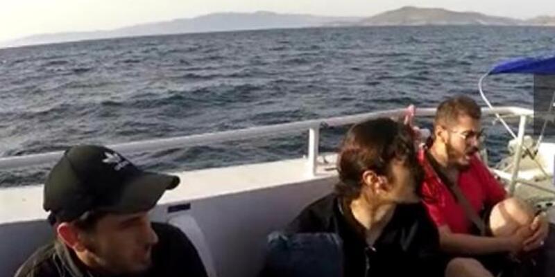 Türk sularına itilen 10 kaçak göçmen kurtarıldı