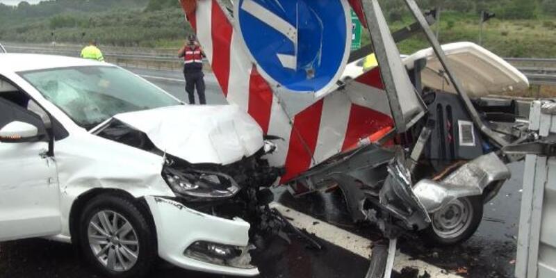 Bursa'da aynı noktada 3 ayrı kaza; 1 yaralı