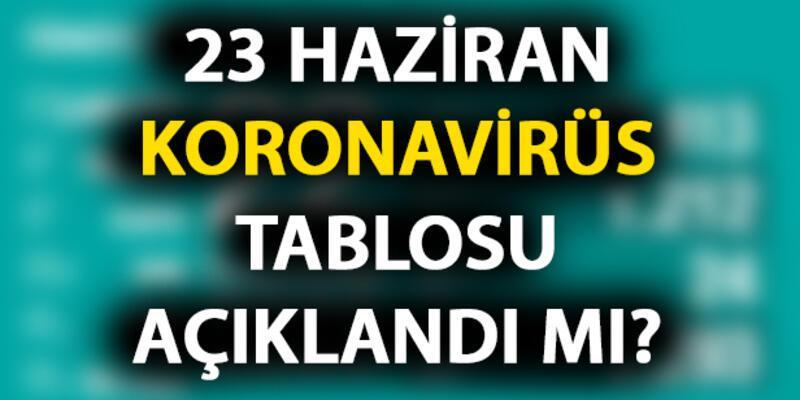 23 Haziran koronavirüs tablosu açıklandı mı? Bugün vaka sayısı kaç olacak?