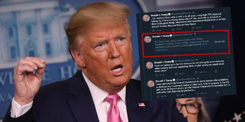 Trump - Twitter savaşında yeni perde! Sakıncalı olarak işaretlendi