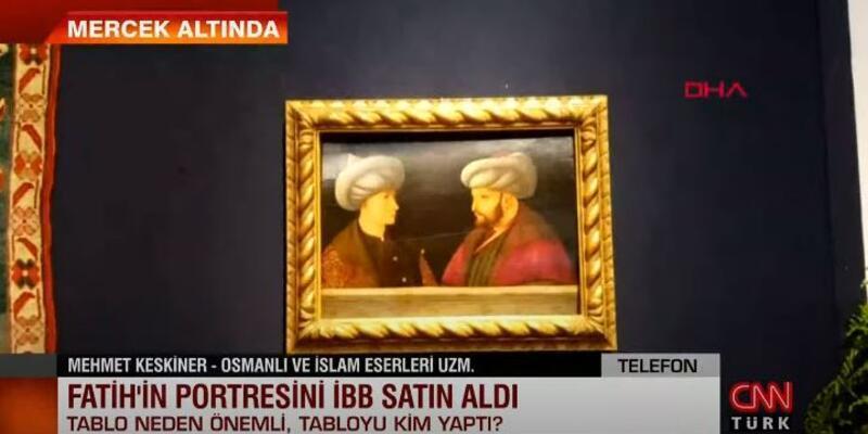 Fatih Sultan Mehmet tablosunun özelliği ne, Sultan'ın karşısındaki kişi kim?