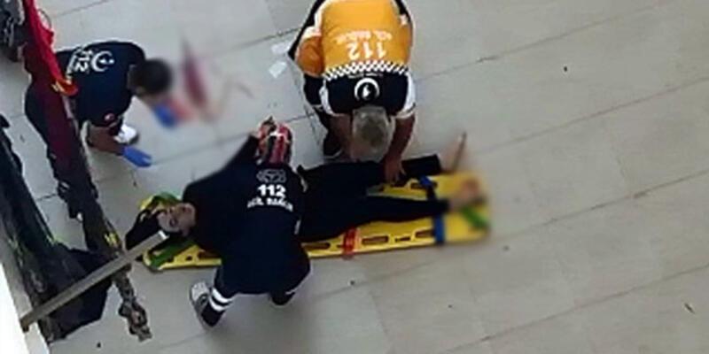 Dengesini kaybedip 4. kattan beton zemine düştü
