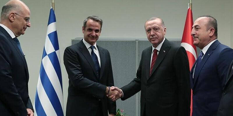 Son dakika: Cumhurbaşkanı Erdoğan, Yunanistan Başbakanı Miçotakis ile görüştü